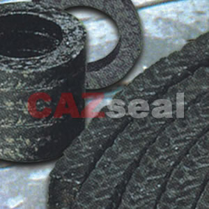 Graphite packing with PTFE impregnation